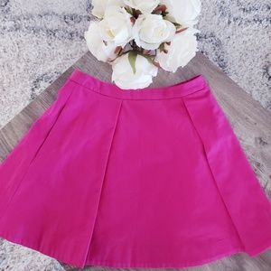 Kate Spade Saturday Pink Pleat Lined Skirt Pocket